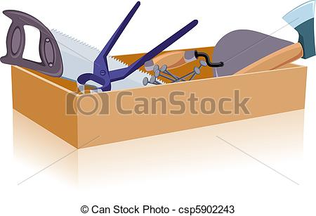 Vectors of Toolbox, white and isolated background.
