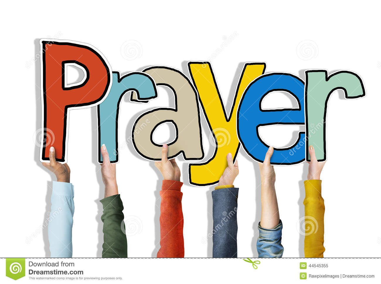 Prayer Word Concepts Isolated On Background Stock Photo.