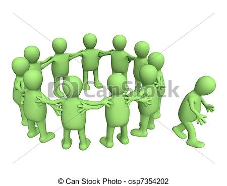 Isolated Person Clip Art.