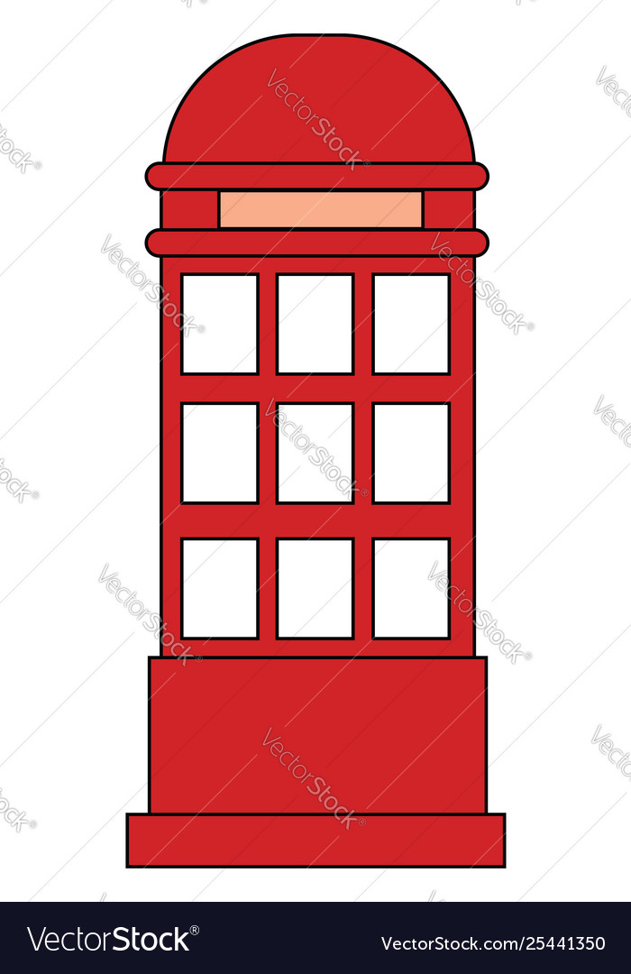 Clipart red phone booth set isolated on.