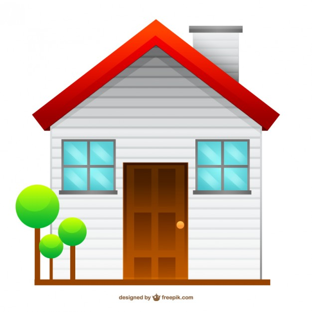 Isolated House Drawing Free Vector.