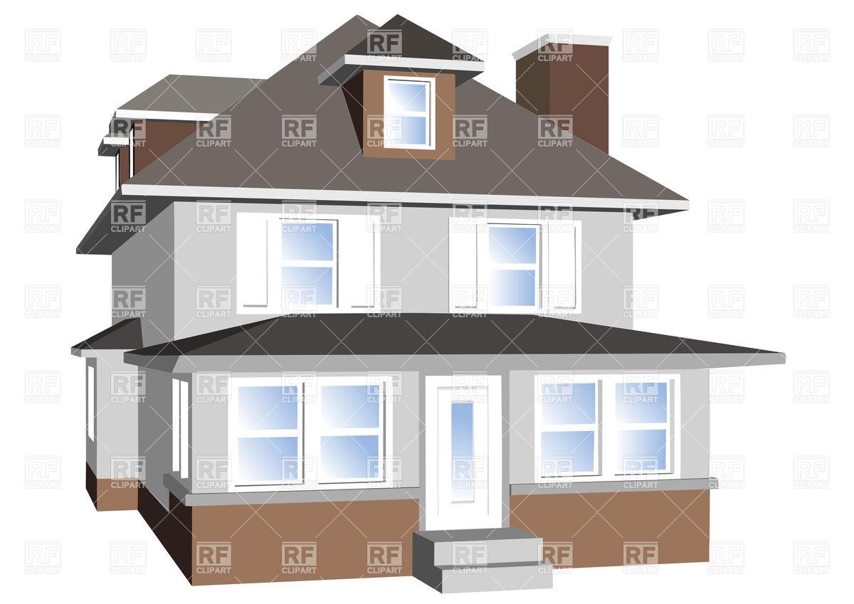 Big house isolated on white background Vector Image #27480.