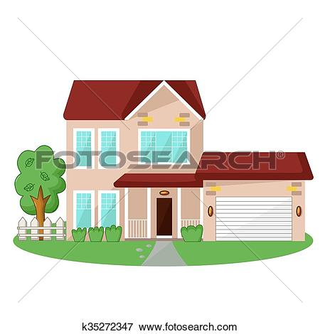 Clip Art of Isolated house icon k35272347.