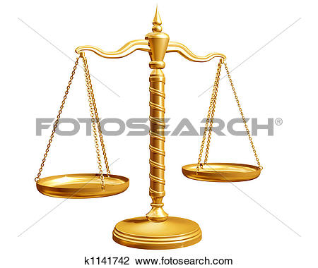Clip Art of Isolated weighing scales k1141742.