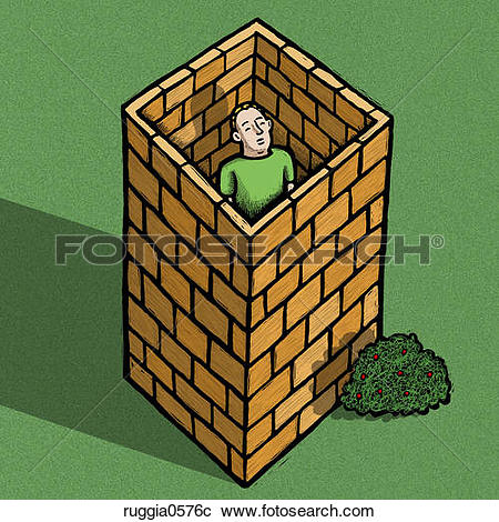 Stock Illustrations of Man in Isolation ruggia0576c.