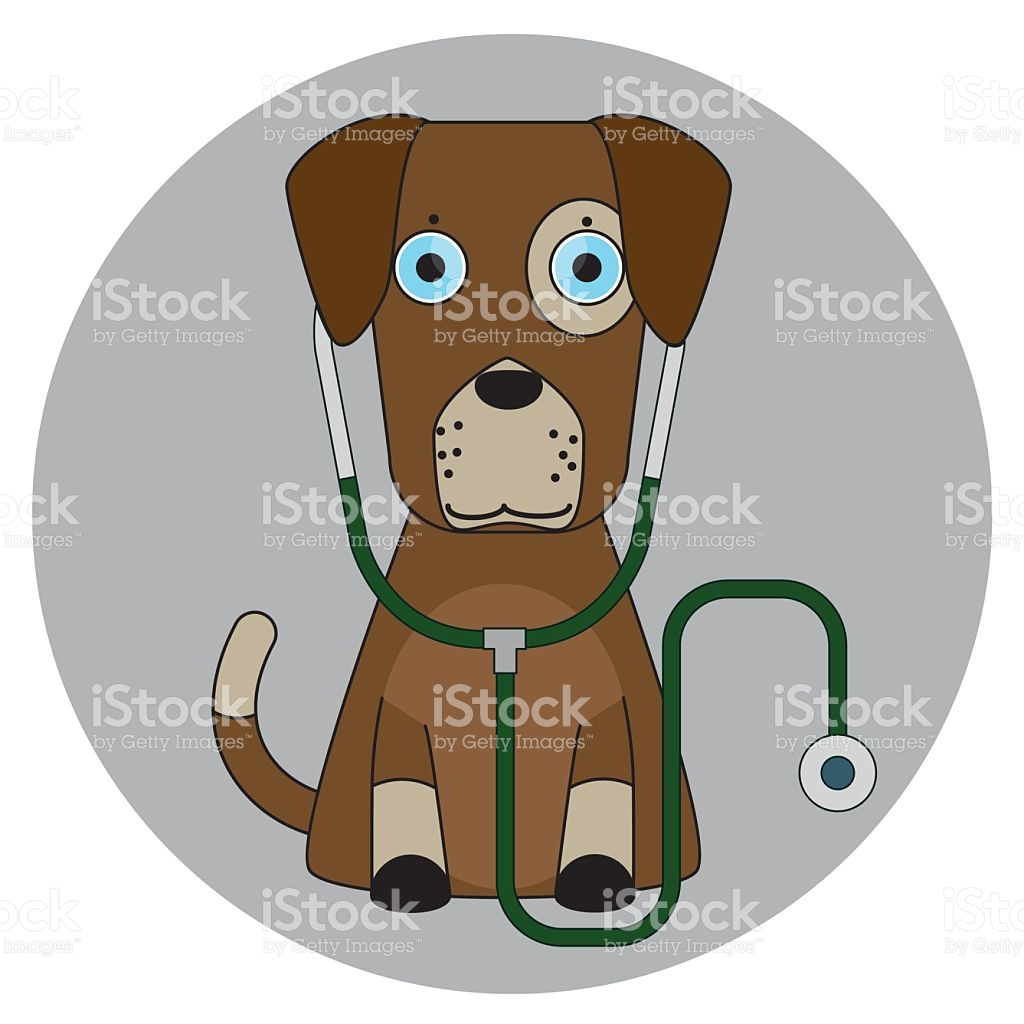 Cartoon Dog In Flat Style Isolated On Background stock vector art.