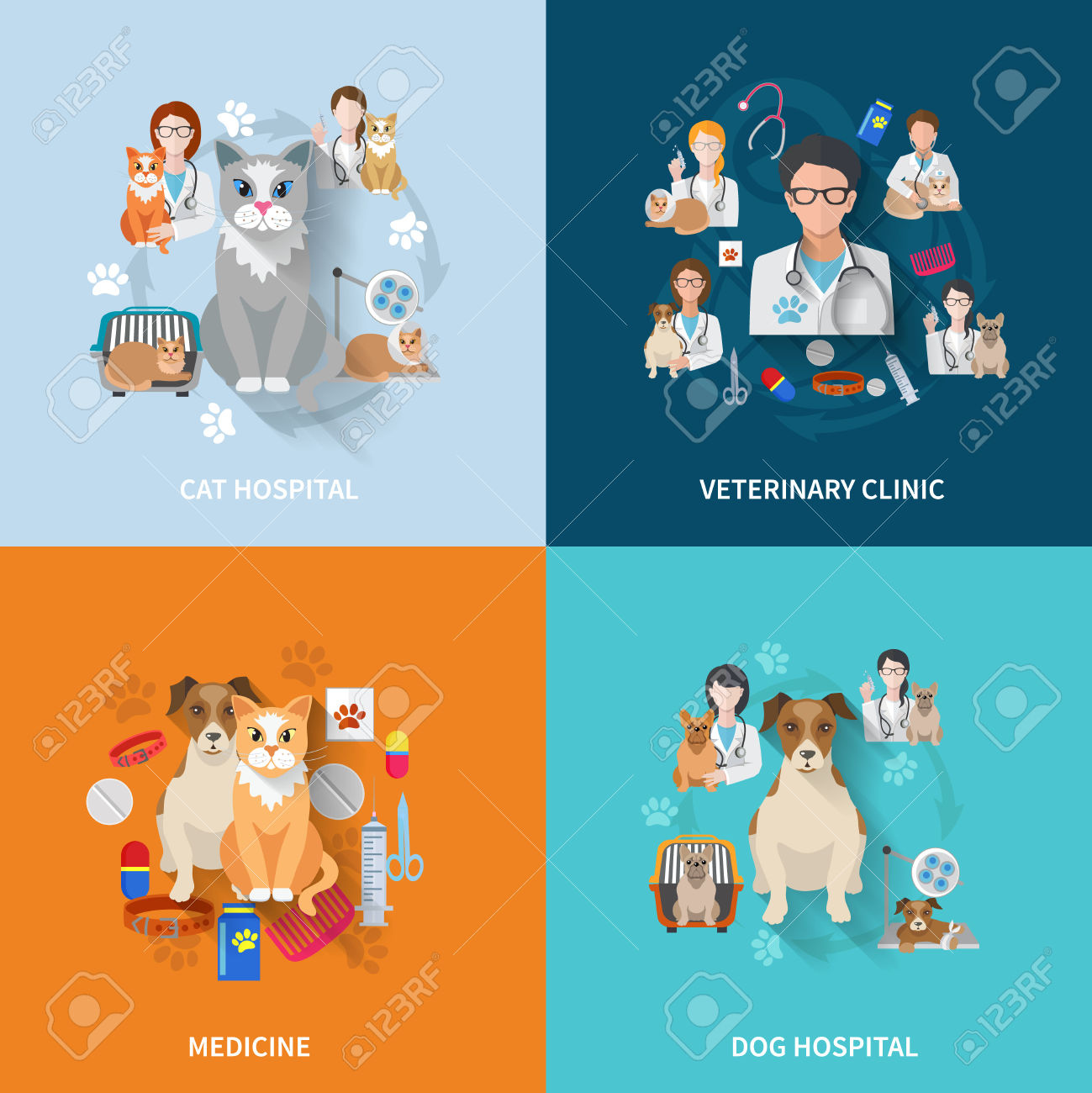 4,944 Pet Hospital Cliparts, Stock Vector And Royalty Free Pet.