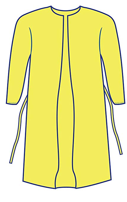 Amazon.com: Personal Touch Yellow Impervious Isolation Gown.