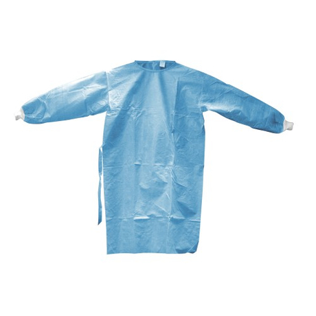 Impervious level 4 disposable non woven isolation gown with.