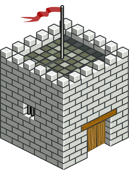 Castle Tower Isometric Clip Art at Clker.com.