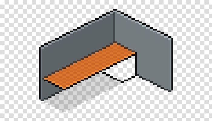 Pixel art Isometric projection Illustration, isometric grid.