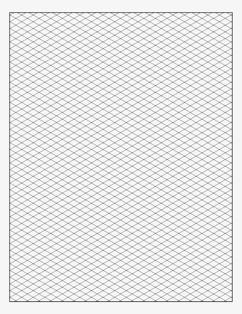 Free Isometric Graph Paper Grid Paper Printable, Isometric.