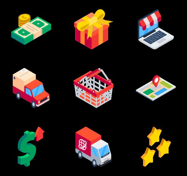 75 isometric icon packs.