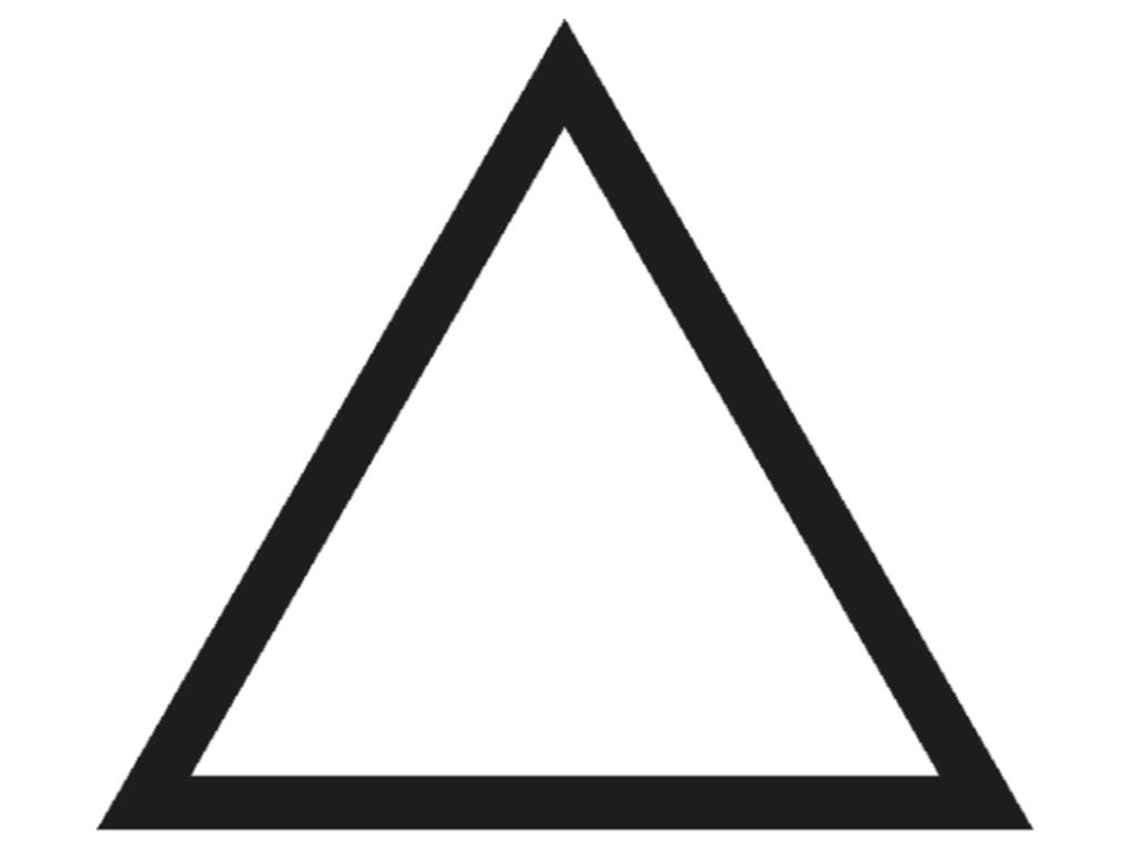 Isosceles triangle clipart navy outline.