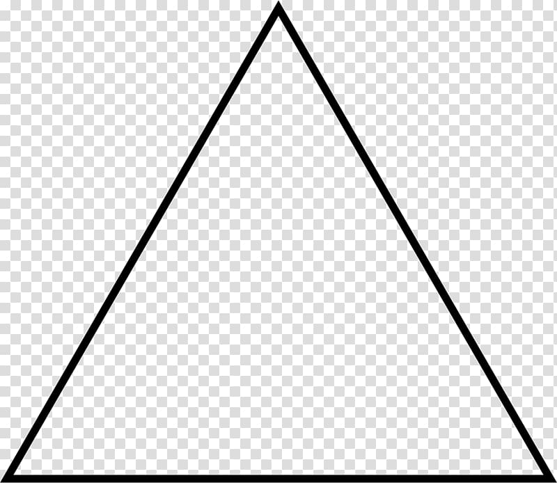 Triangle illustration, Equilateral triangle Isosceles triangle.