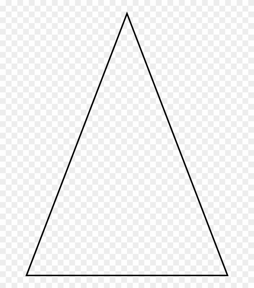 The Third Type Of Triangle Is An Isosceles Triangle Clipart.