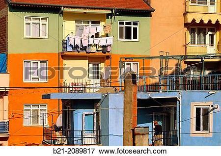 Picture of New flats complex at Isparta, Central Anatolia, Turkey.