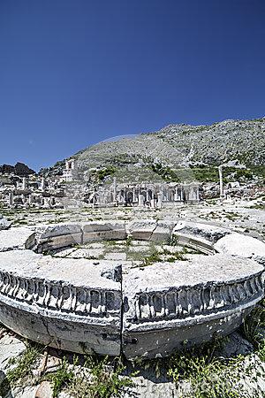 Antoninus Fountain Sagalassos Isparta Turkey Stock Photos, Images.
