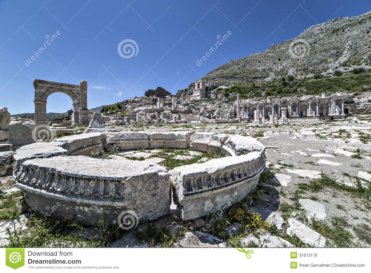 Ruins Of Sagalassos In Isparta, Turkey Royalty Free Stock Photos.