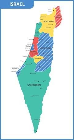 2,845 Israel Map Cliparts, Stock Vector And Royalty Free Israel Map.