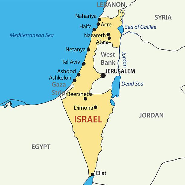 Best Israel Map Illustrations, Royalty.