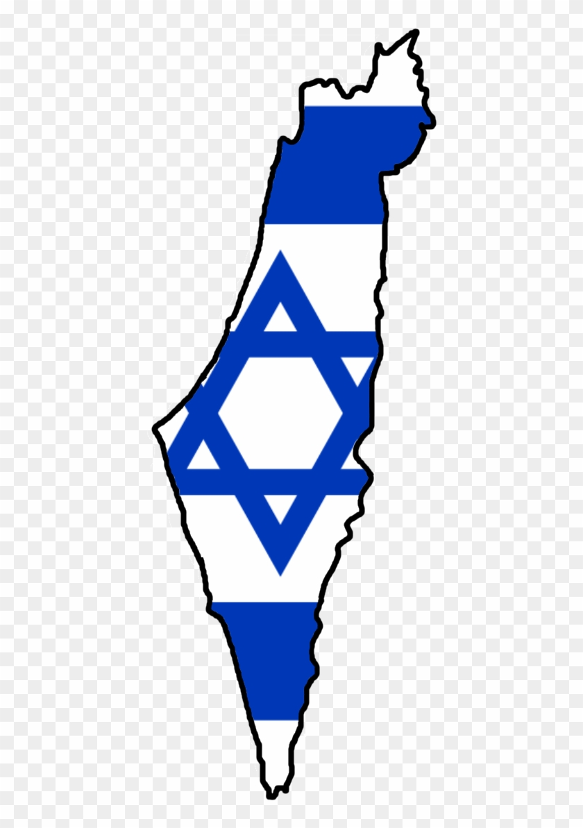 Flag Map Of Israel.