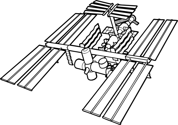 Space Station Clipart
