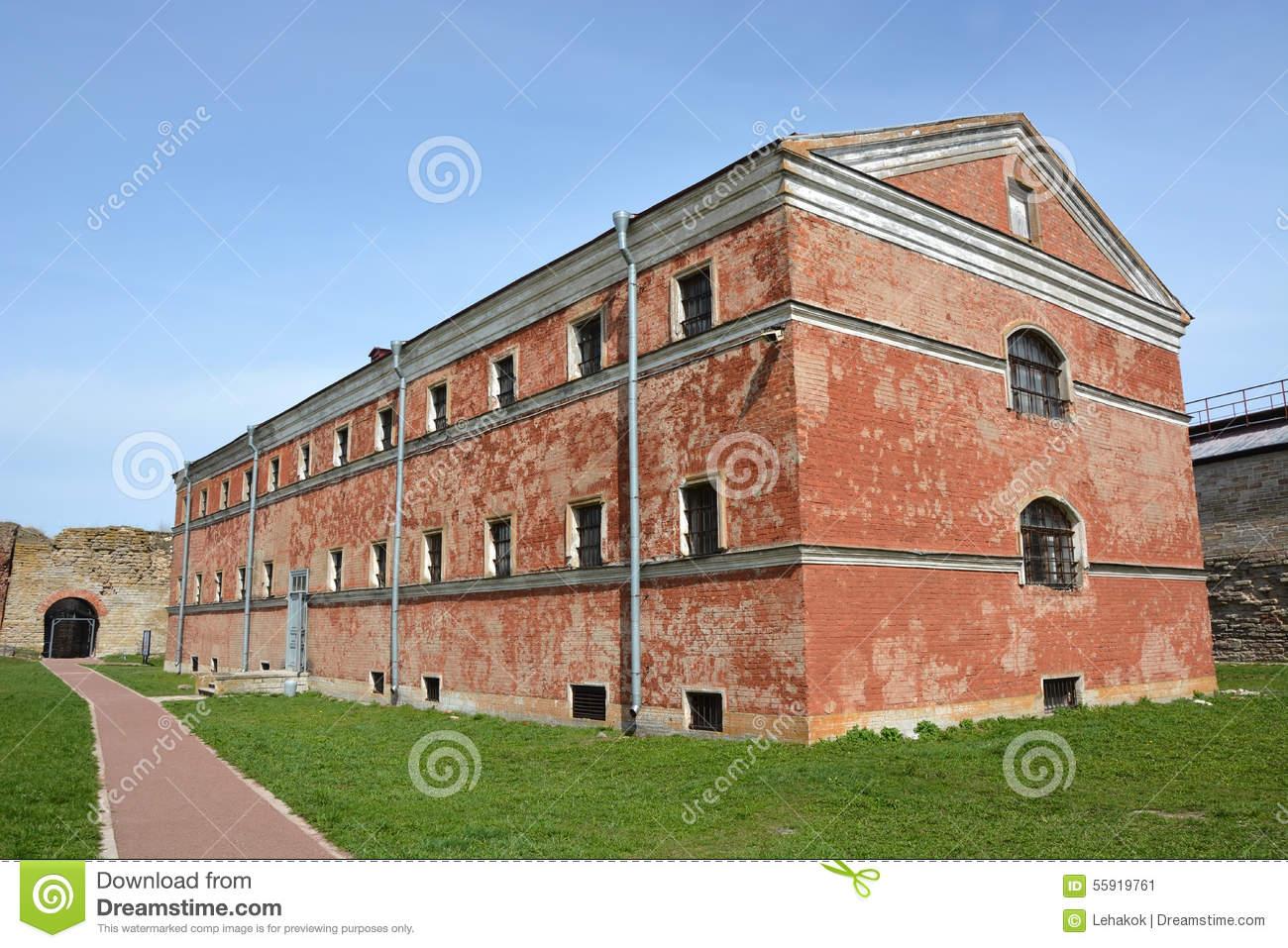 Old Prison Building In Oreshek Fortress Stock Photo.