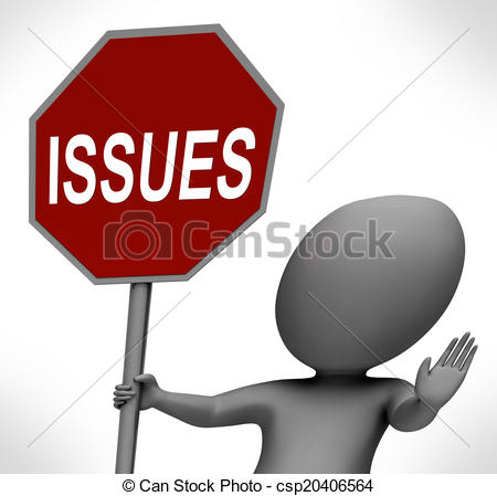 Clipart of Issues Uphill Sphere Shows Problems Difficulty Or.