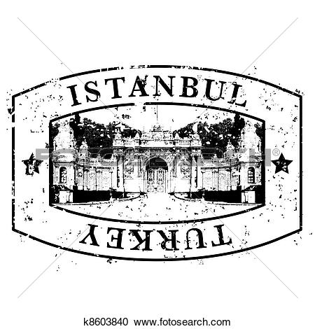 Clipart of Vector illustration of single isolated Istanbul icon.