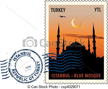 Istanbul blue mosque Clip Art Vector and Illustration. 226.