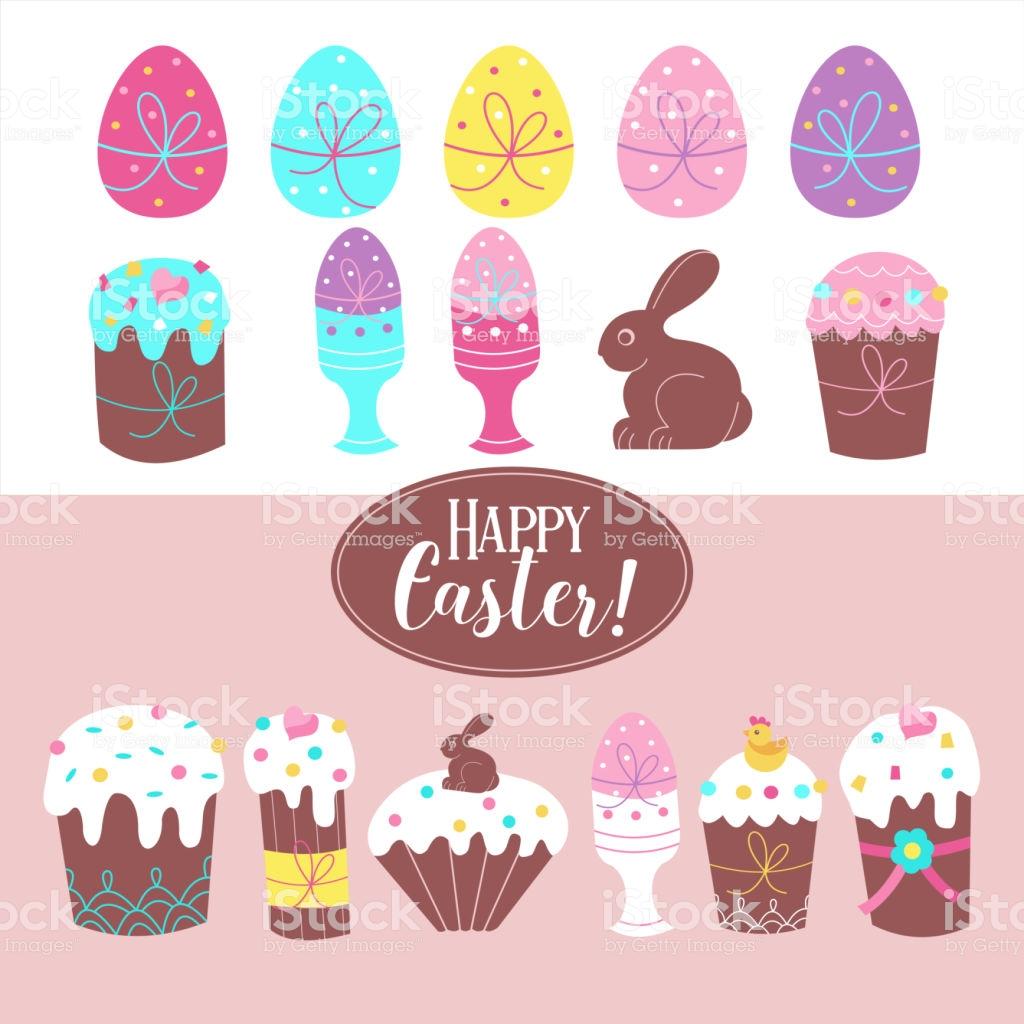 Easter Clipart Stock Illustration.