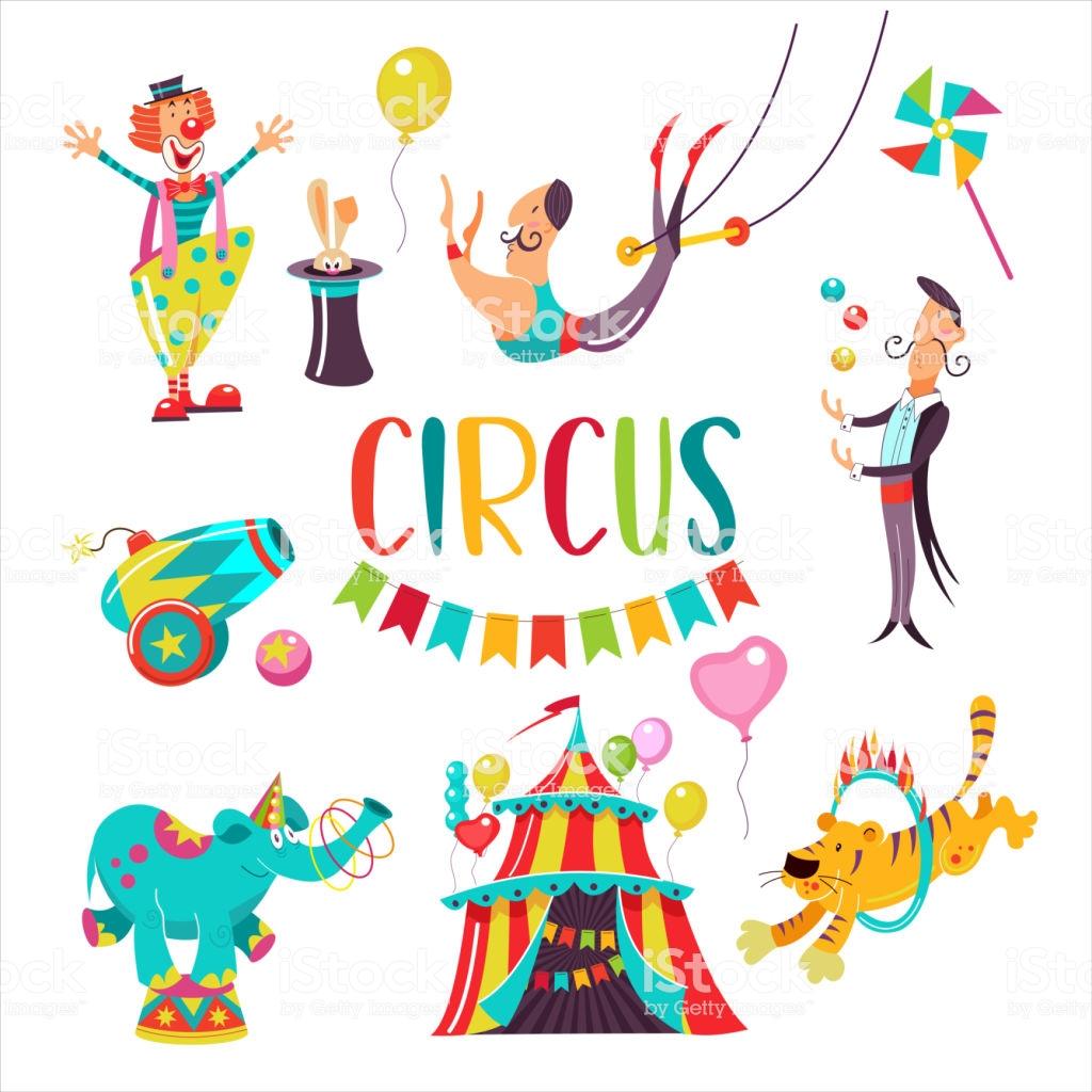 Circus Clipart Stock Illustration.
