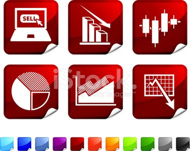 bear stock market royalty free vector icon set stickers.