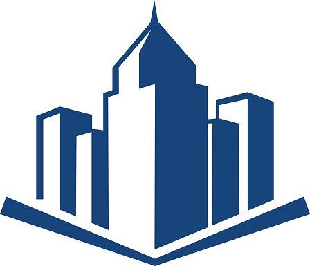 Building logo Clipart Image.