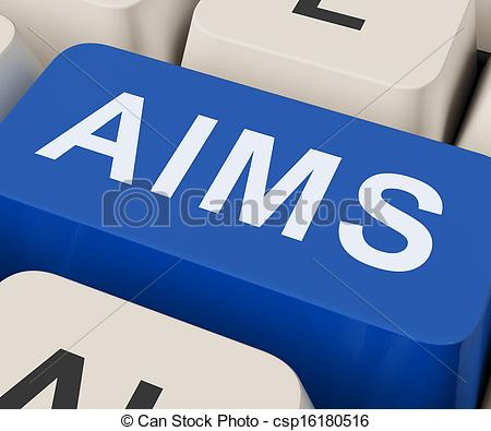 Clipart of Aims Key Shows Goals Purpose And Aspirations.