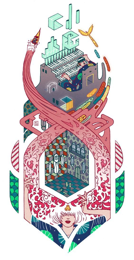 Musical composition #illustration #nicolascastell #music #colorful.