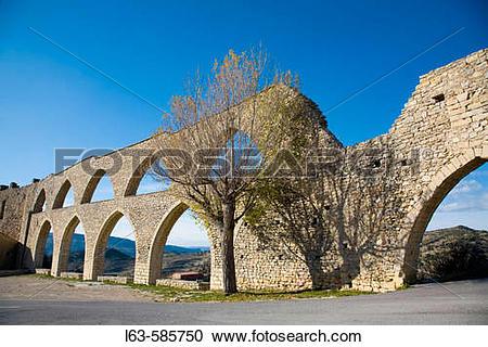 Stock Photography of Aqueduct (XIVth century). Morella. Els Ports.