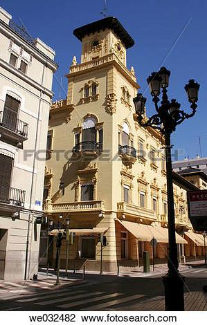 Stock Photo of Old casino, Castell?n. Comunidad Valenciana, Spain.
