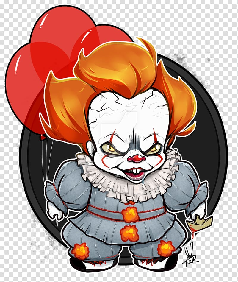 It Clown Drawing Art Chibi, pennywise drawing transparent.