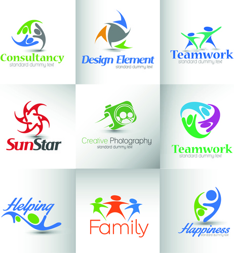 Modern business logos design art vector Free vector in.