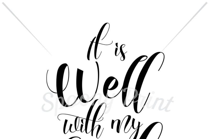 Free It is well with my soul SVG.