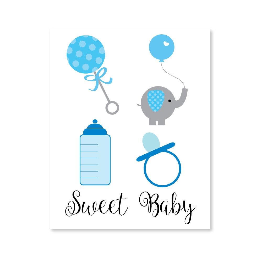 Boy Baby Shower Clipart.
