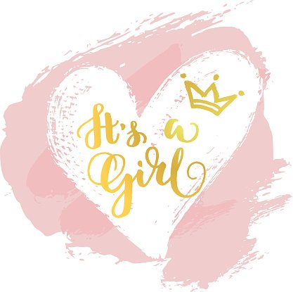 It\'s a girl card Clipart Image.