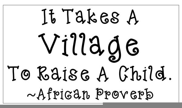 It Takes A Village To Raise A Child Clipart.