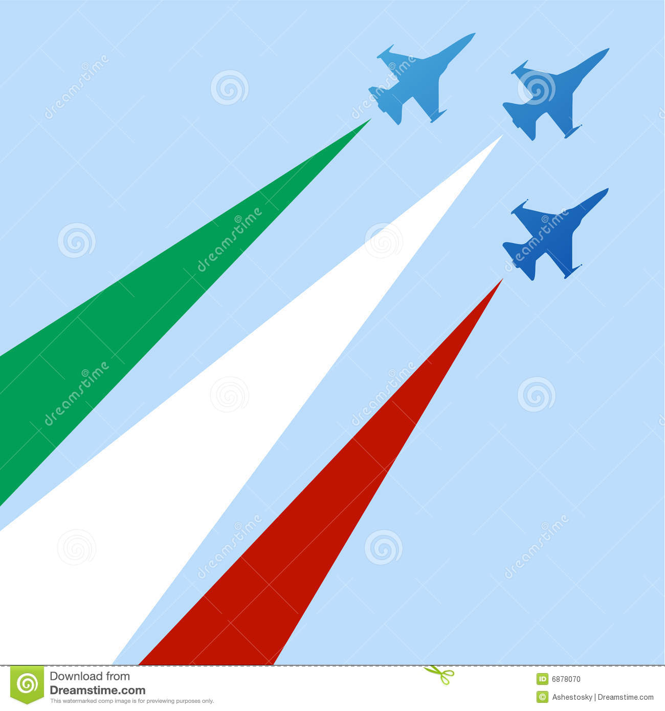 Italian Air Force Insignia Stock Vector.