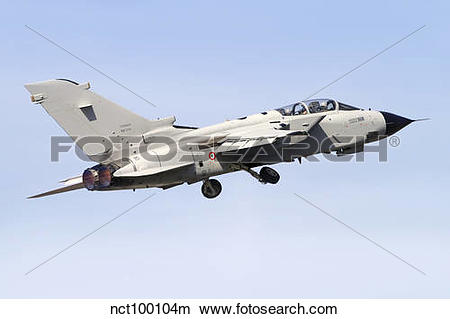 Stock Photo of An Italian Air Force Panavia Tornado IDS MLU taking.