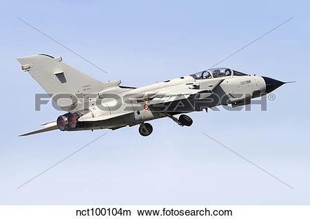 Stock Photo of An Italian Air Force Panavia Tornado IDS MLU taking.