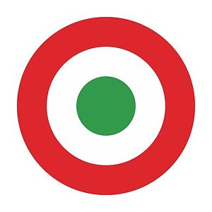 1x Italy Air Force Roundel Vinyl Sticker Decal for Helmet Hard Had.