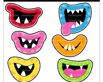 Monster Mouth Happy Clipart.